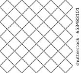 seamless pattern of squares and ... | Shutterstock .eps vector #653483101