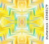 colorful kaleidoscopic pattern... | Shutterstock . vector #653483179