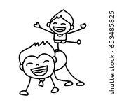 hand drawing cartoon concept... | Shutterstock .eps vector #653485825