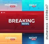set of mass media. morning ...   Shutterstock .eps vector #653486167