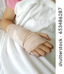 broken arm to cast. | Shutterstock . vector #653486287