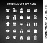 christmas gift box icons | Shutterstock .eps vector #653488441