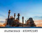 oil petrochemical refinery...   Shutterstock . vector #653492185