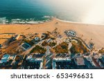 aerial view of the shoreline in ... | Shutterstock . vector #653496631