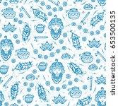 vector seamless pattern for... | Shutterstock .eps vector #653500135