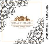 vintage delicate invitation... | Shutterstock . vector #653500387