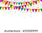 celebration web banner.... | Shutterstock .eps vector #653500999