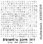 business doodles sketch vector... | Shutterstock .eps vector #653507359