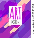 modern hipster art graphics.... | Shutterstock .eps vector #653511751