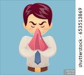 vector   sick businessman.... | Shutterstock .eps vector #653513869