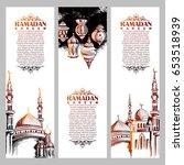 illustration of  ramadan kareem ... | Shutterstock .eps vector #653518939