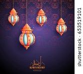 illustration of ramadan kareem  ... | Shutterstock .eps vector #653519101