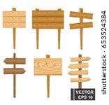 set of cartoon index boards.... | Shutterstock .eps vector #653524384