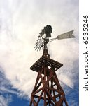 windmill with blue sky and... | Shutterstock . vector #6535246