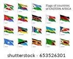 set of waving flags of eastern... | Shutterstock .eps vector #653526301