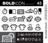 bold line icons  soccer ... | Shutterstock .eps vector #653528221