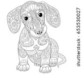 Coloring Page Of Dachshund...