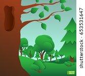 vector image. forest landscape  ... | Shutterstock .eps vector #653531647