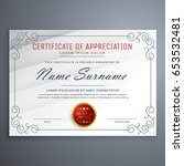 certificate design template... | Shutterstock .eps vector #653532481