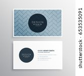 company business card design... | Shutterstock .eps vector #653535091