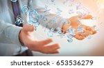 businessman on blurred... | Shutterstock . vector #653536279