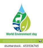 world environment day | Shutterstock .eps vector #653536765