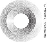 lines in circle form . vector...   Shutterstock .eps vector #653536774
