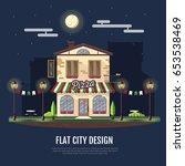 flat style modern icon design... | Shutterstock .eps vector #653538469