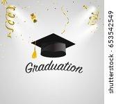 graduation congratulatory... | Shutterstock .eps vector #653542549