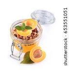 healthy breakfast. homemade... | Shutterstock . vector #653551051