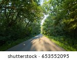 landscape with an empty road...   Shutterstock . vector #653552095