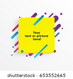 vector background. yellow... | Shutterstock .eps vector #653552665