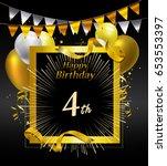 4 years anniversary celebration ... | Shutterstock .eps vector #653553397