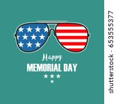 vector happy memorial day card. ... | Shutterstock .eps vector #653555377