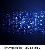 social media vector background. ... | Shutterstock .eps vector #653555551