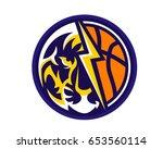 modern animal sports team ... | Shutterstock .eps vector #653560114