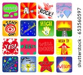vector achievement school... | Shutterstock .eps vector #653560597