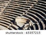 Roman amphitheatre in Turkey , Myra - stock photo