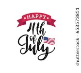 Vector Fourth Of July Hand...