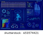 futuristic user interface. hud... | Shutterstock .eps vector #653574421