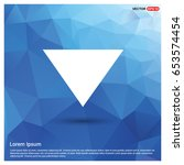 down arrow icon | Shutterstock .eps vector #653574454