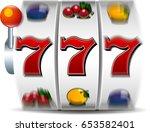 slot machine icon | Shutterstock . vector #653582401
