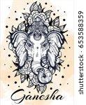 hindu lord ganesha over... | Shutterstock .eps vector #653588359