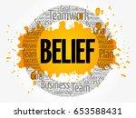 belief word cloud collage ... | Shutterstock .eps vector #653588431