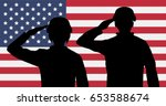 Silhouette American Soldiers...