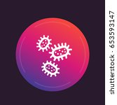 microbes  bacteria icon   Shutterstock .eps vector #653593147