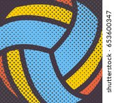 sports background ball for the... | Shutterstock . vector #653600347