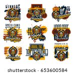 collection of vector... | Shutterstock .eps vector #653600584