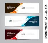 vector abstract design banner... | Shutterstock .eps vector #653603515