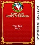 Santa Claus, Certify of Guaranty in vectors - stock vector